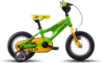 Dětské kolo Ghost Powerkid 12 green/yellow/red